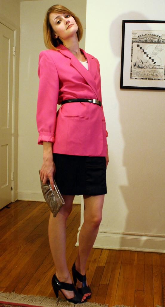 vintage oversized pink blazer
