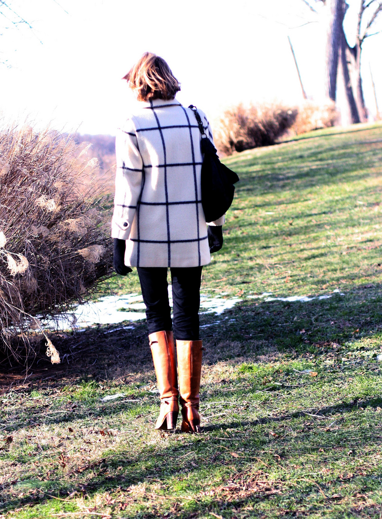 vintage wide plaid coat