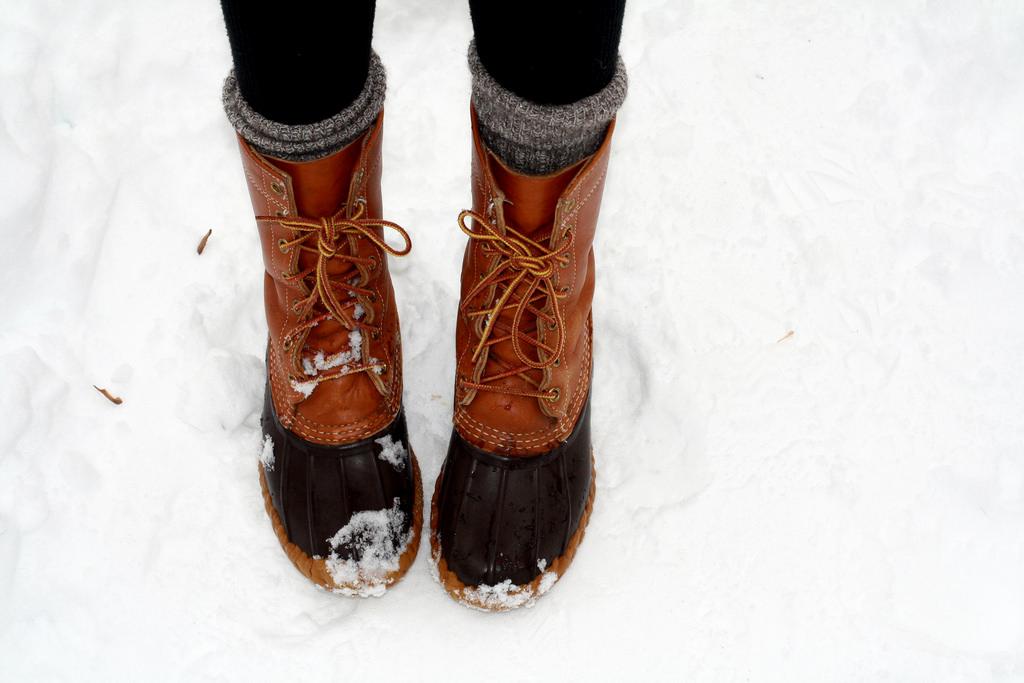 LL Bean duck boots