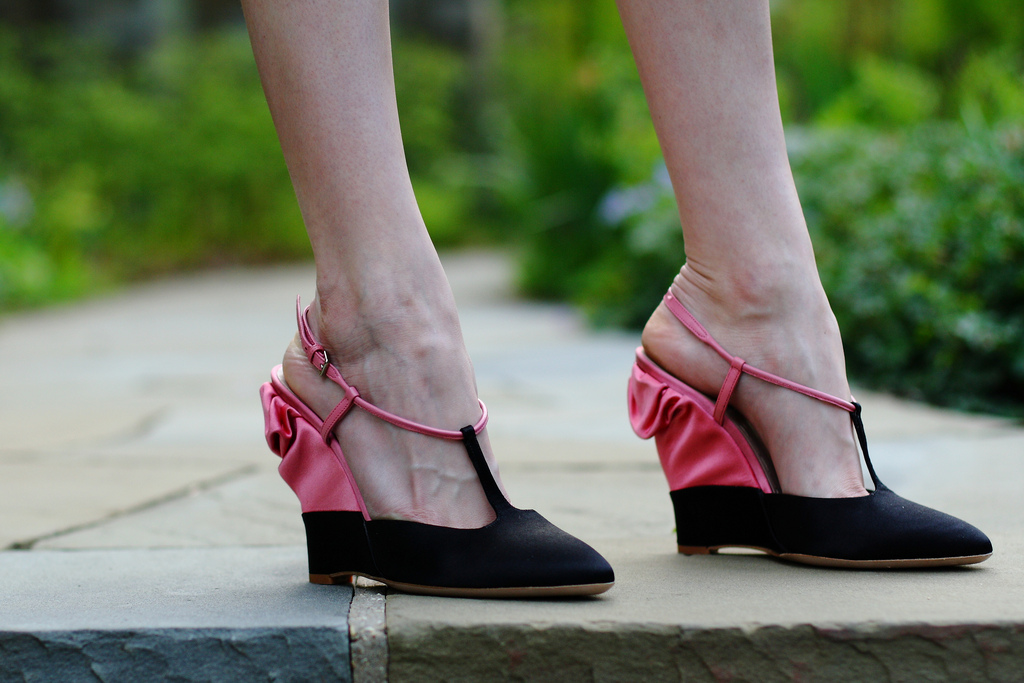 Miu Miu satin wedges