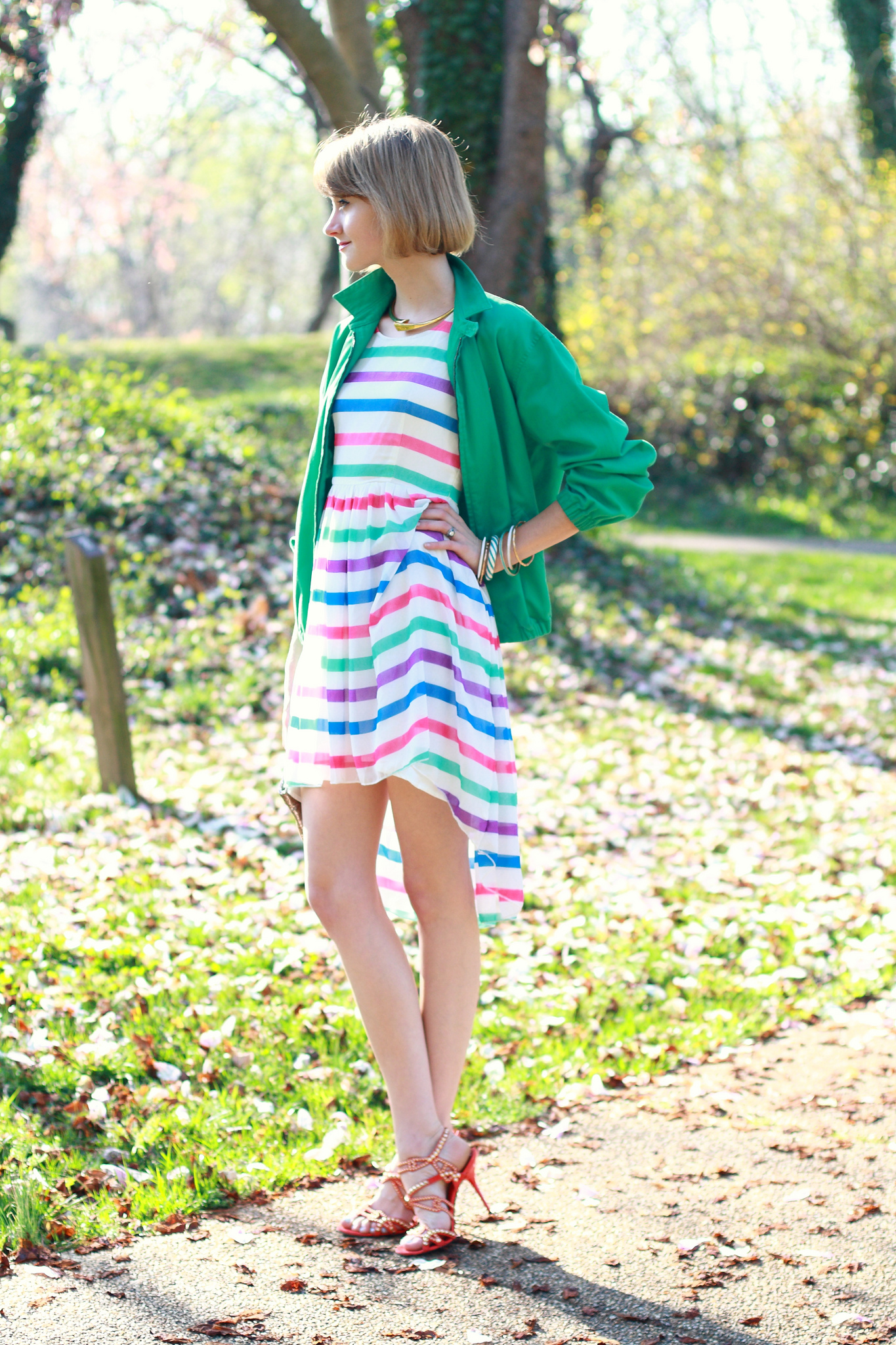 ASOS striped dress
