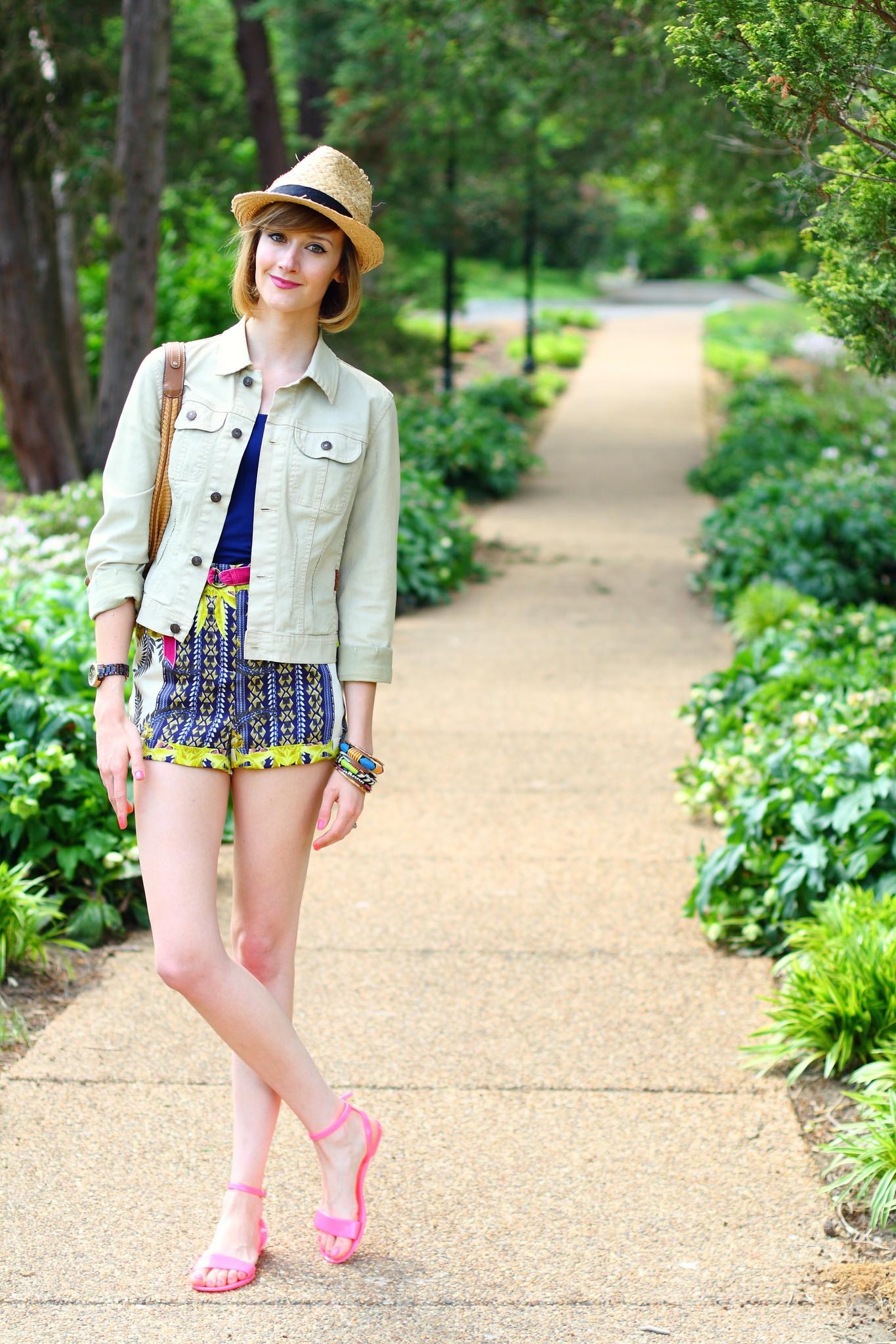 Topshop scarf print shorts
