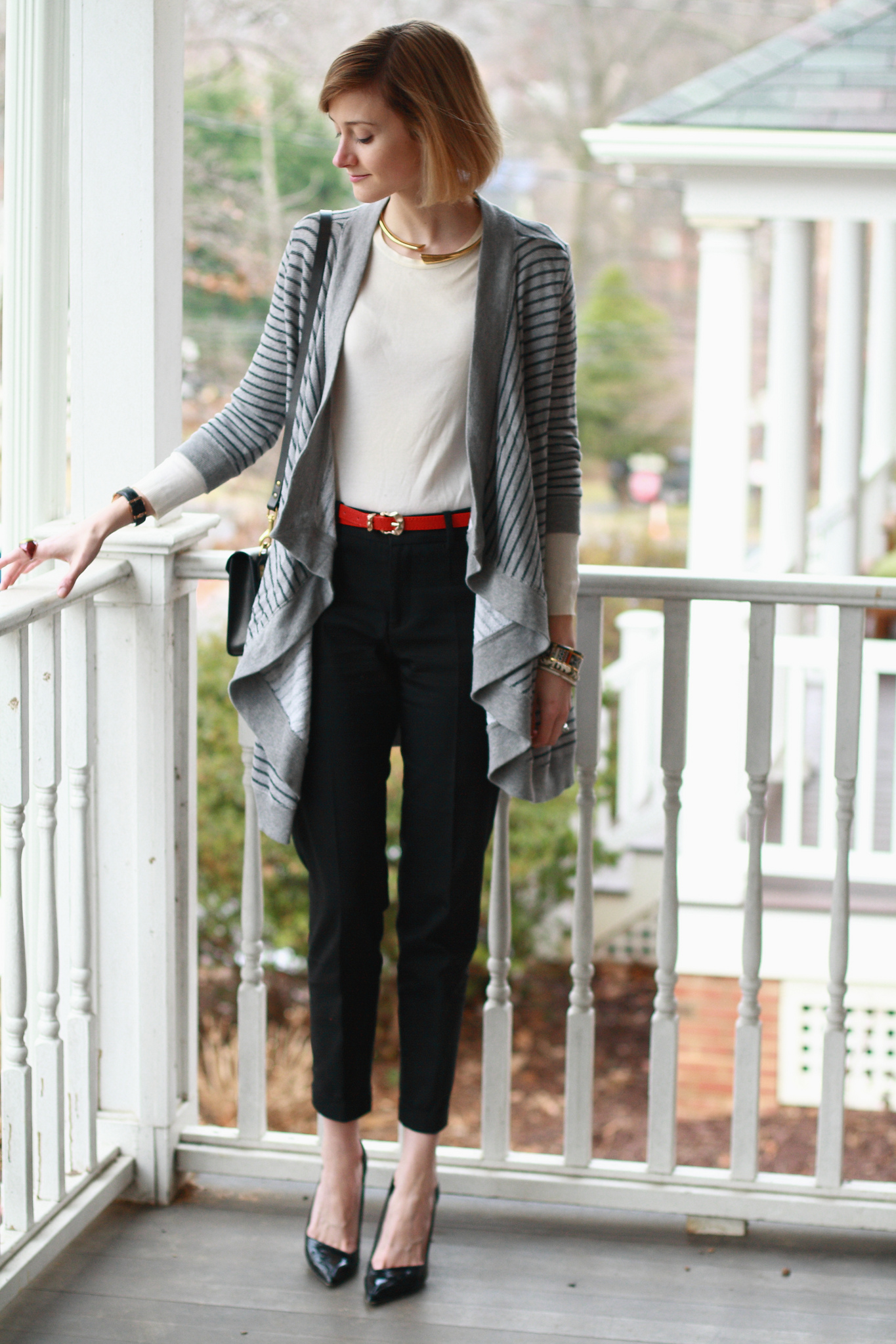 Joie striped cardigan