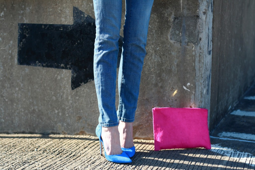 Zara pumps and ASOS clutch