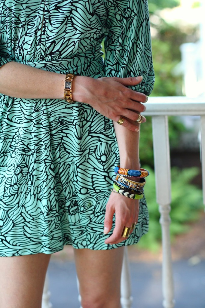 tribal bangles and ASOS rings