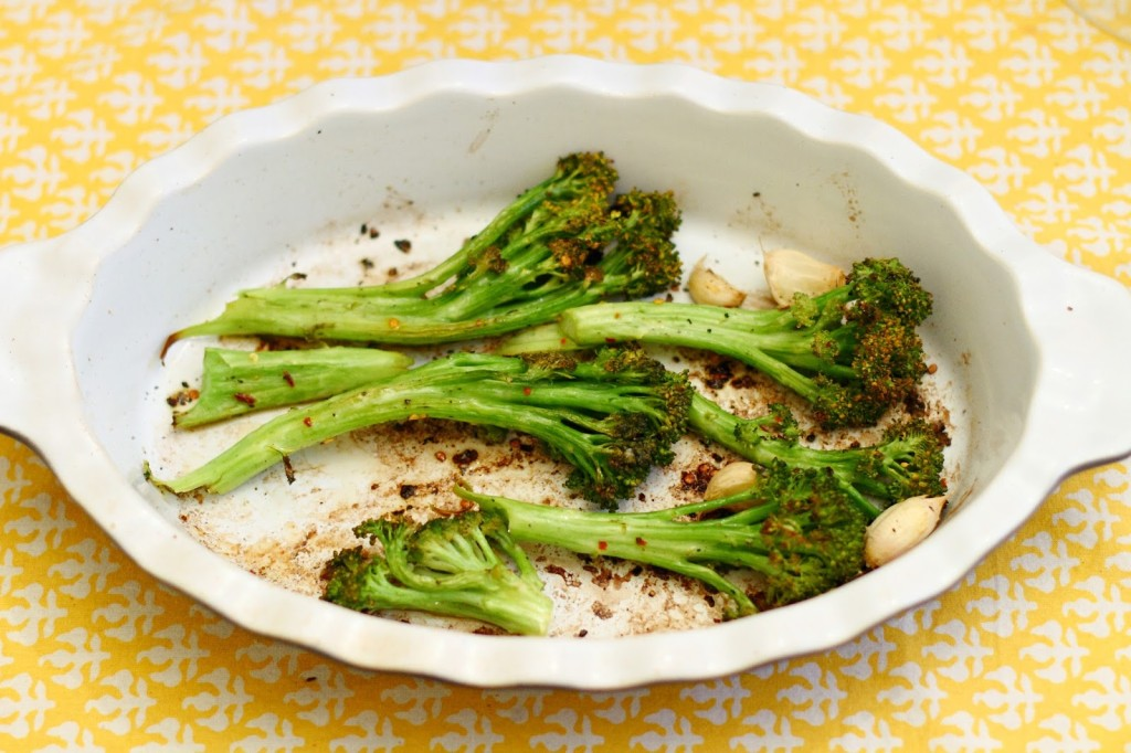 District of Chic: Roasted Broccoli with Garlic and Chile