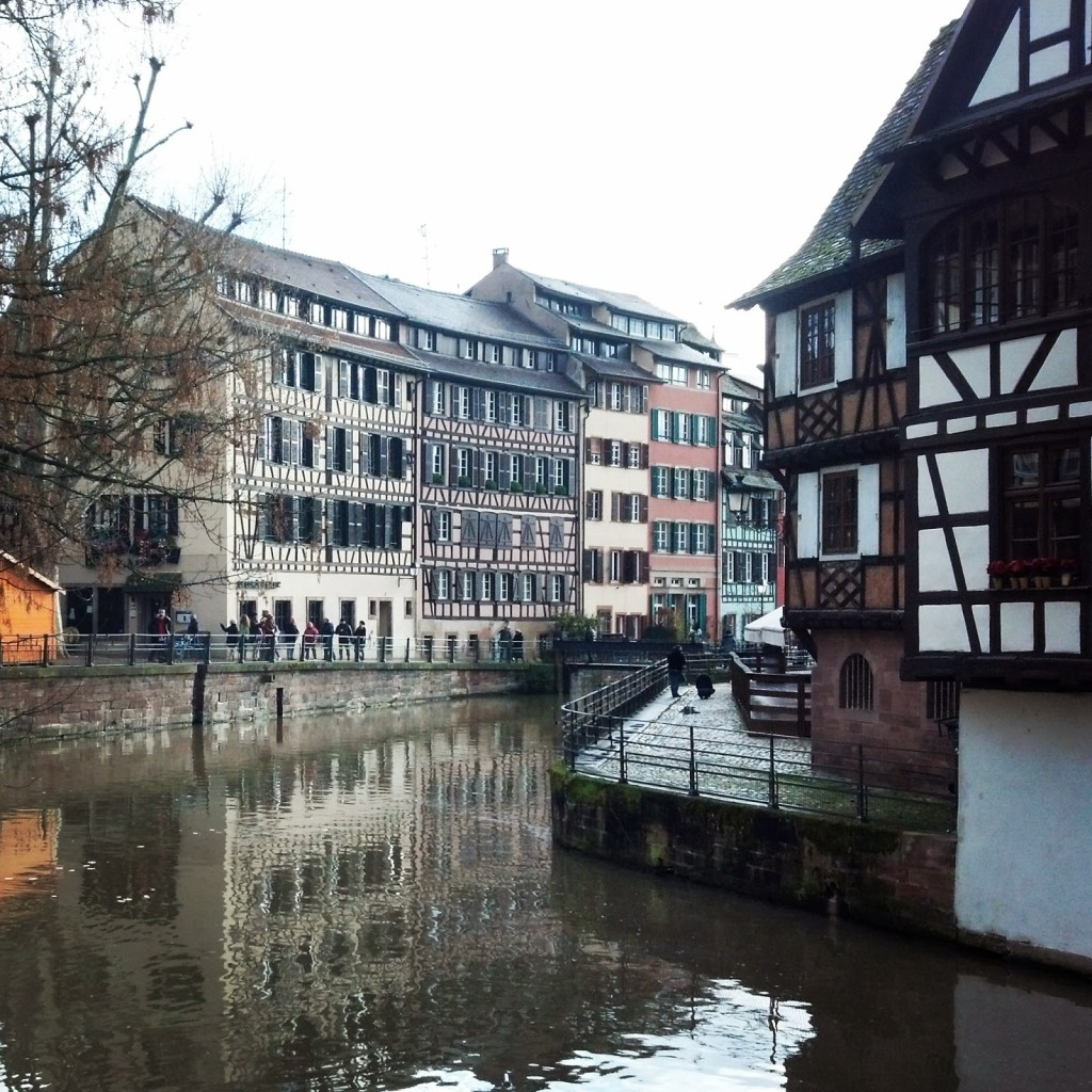 Alsatian half-timbered houses in Strasbourg
