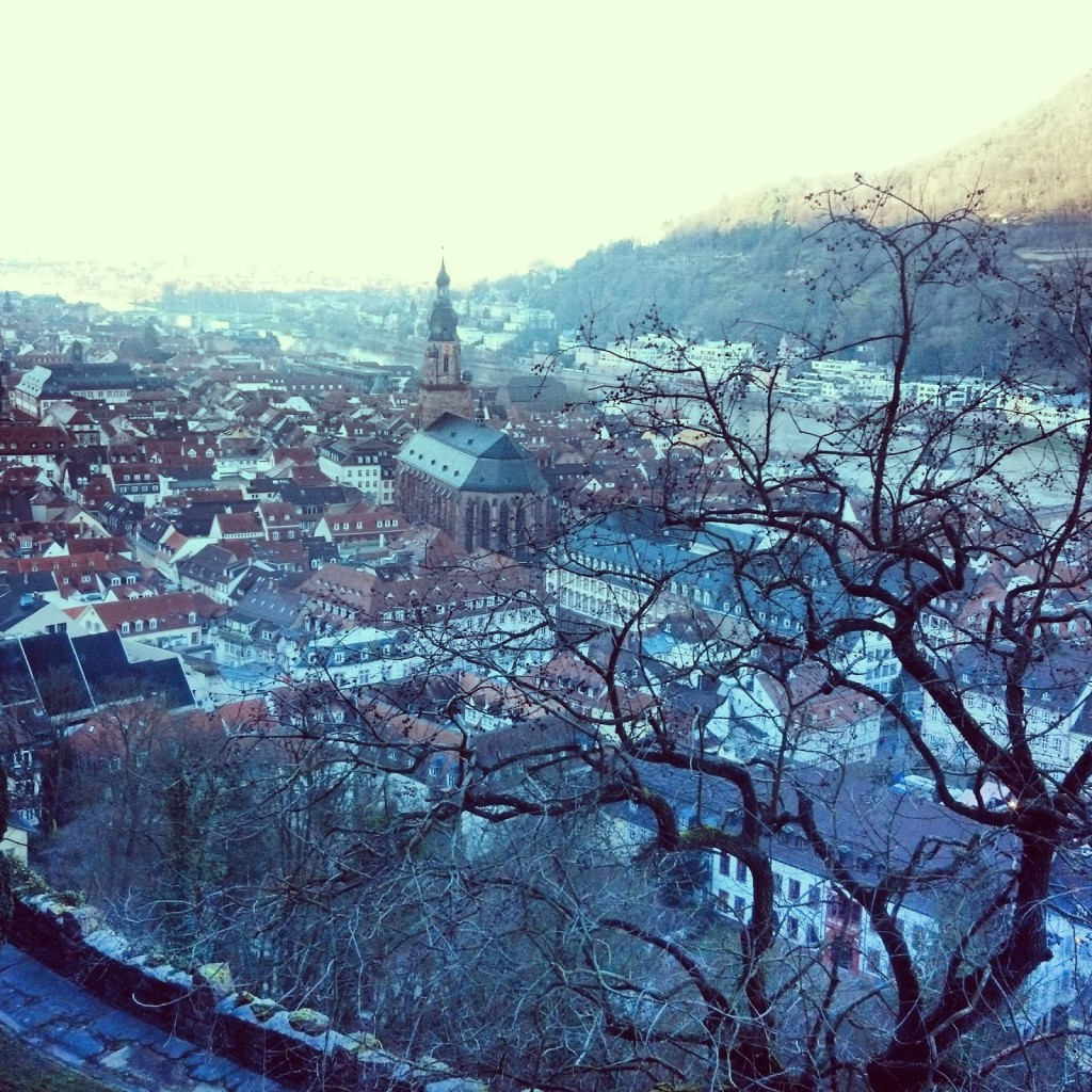 view of Heidelberg from Heidelberg Castle