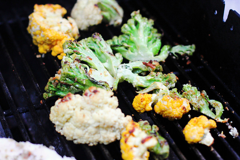 how to cook cauliflower on the grill