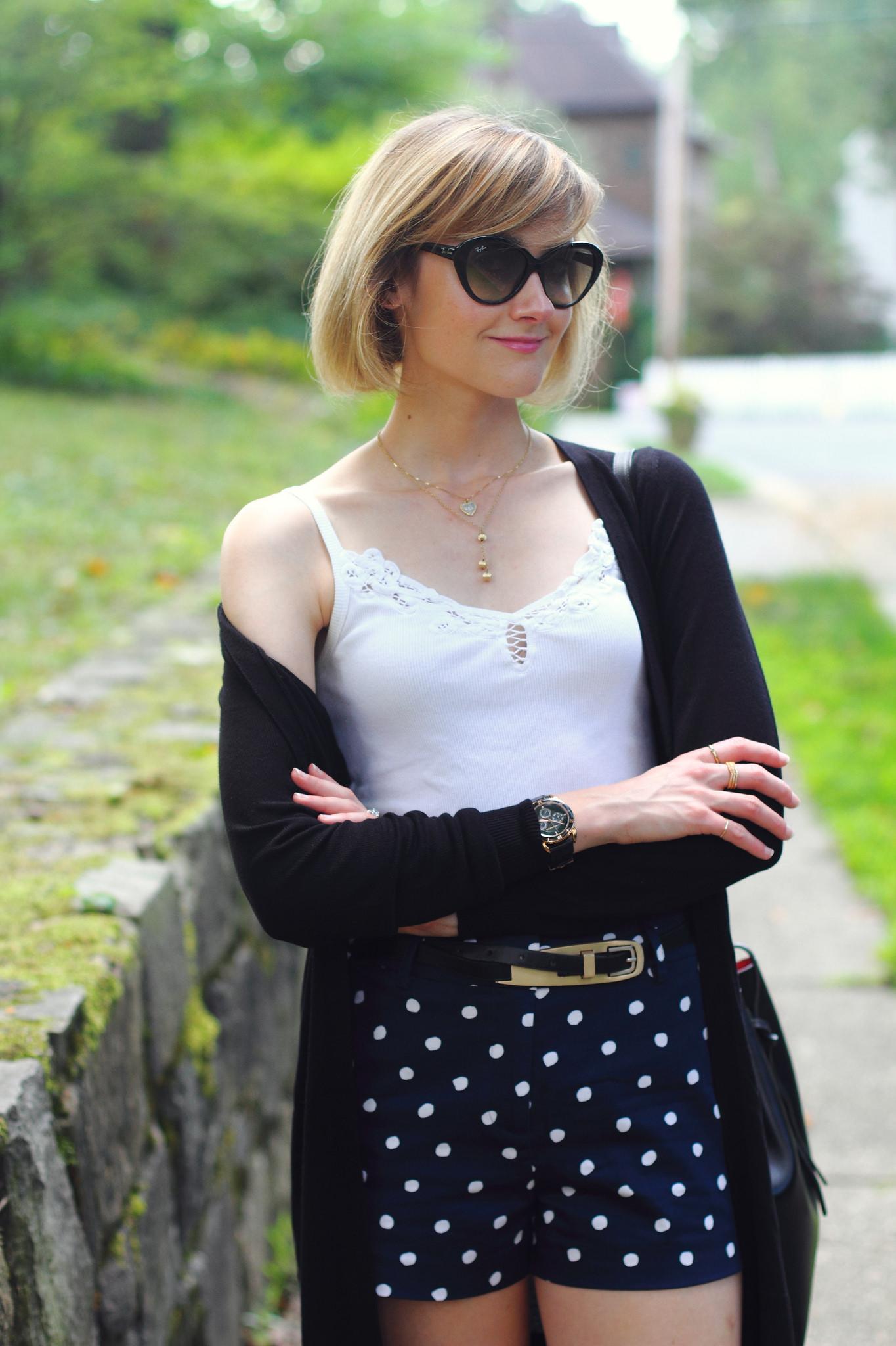 Oasis polka dot shorts
