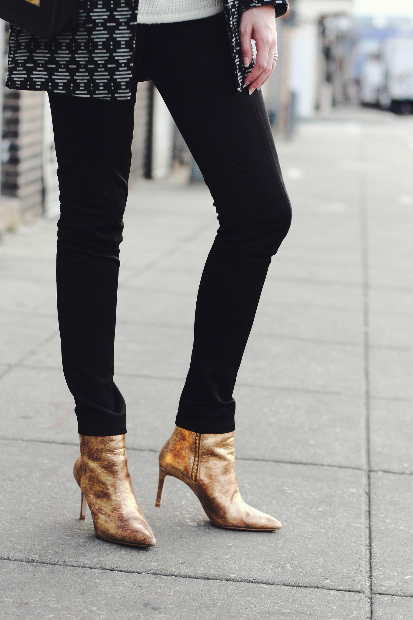 Zara gold boots