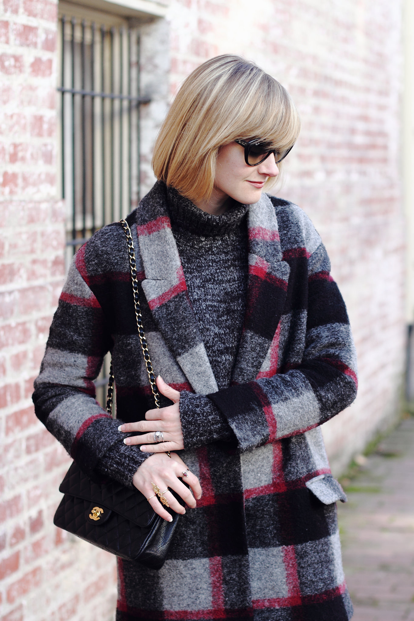 plaid Bel Air coat