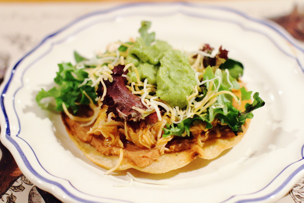 slow cooker chicken tostada