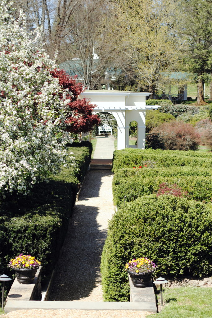 English garden at Airlie, Virginia