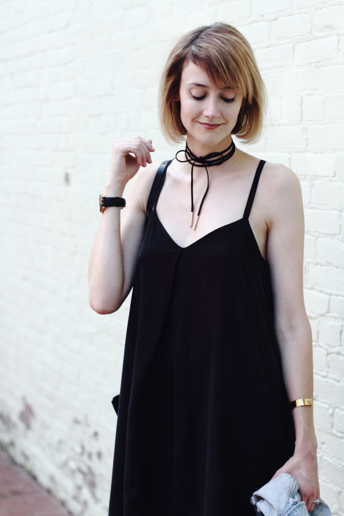 tie choker and Joie dress