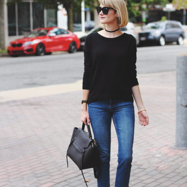 Express sweater and Topshop denim