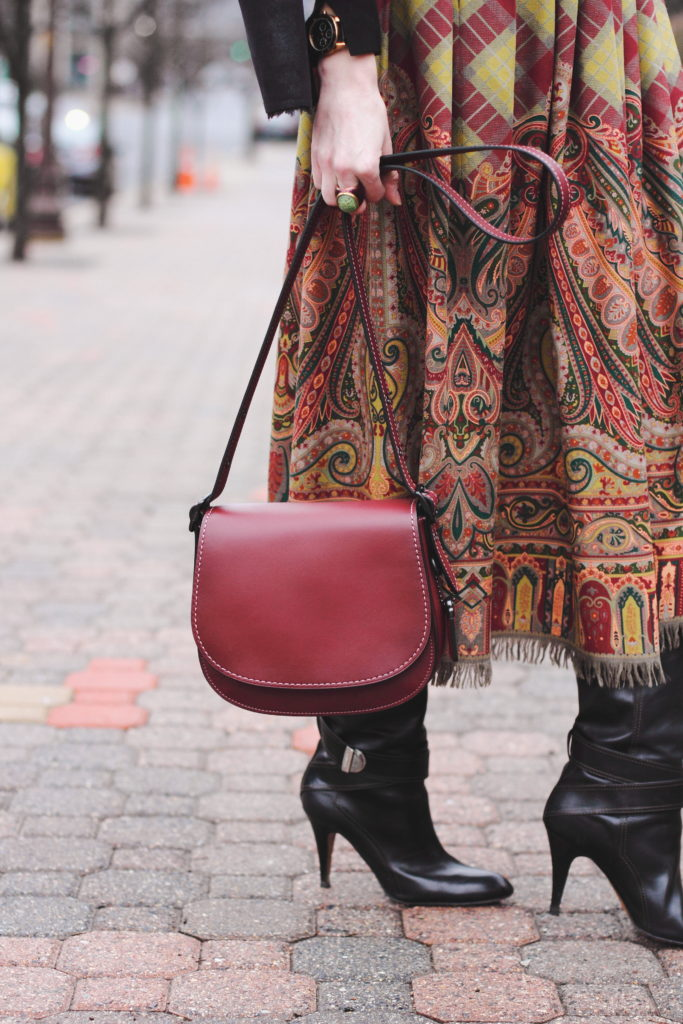 vintage Ralph Lauren skirt and Coach bag