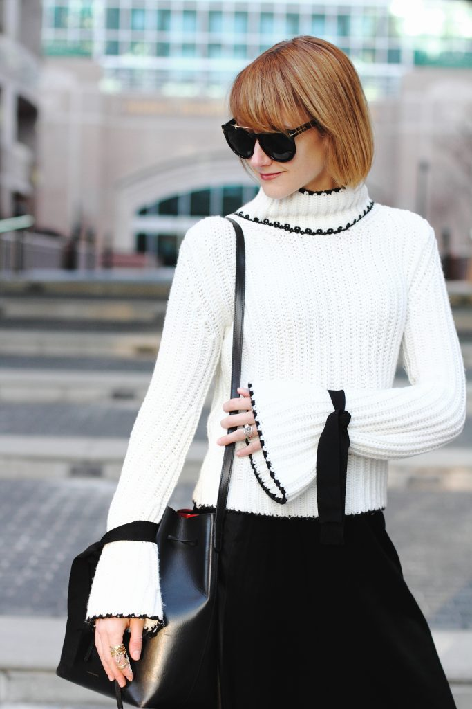 Genuine People sweater and Mansur Gavriel bag