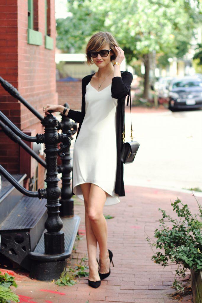 Oasis slip dress and cardigan