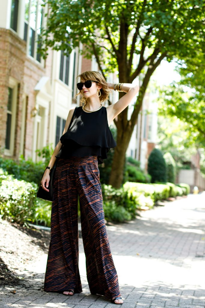 Zara top, Forever 21 pants, and Mansur Gavriel bag