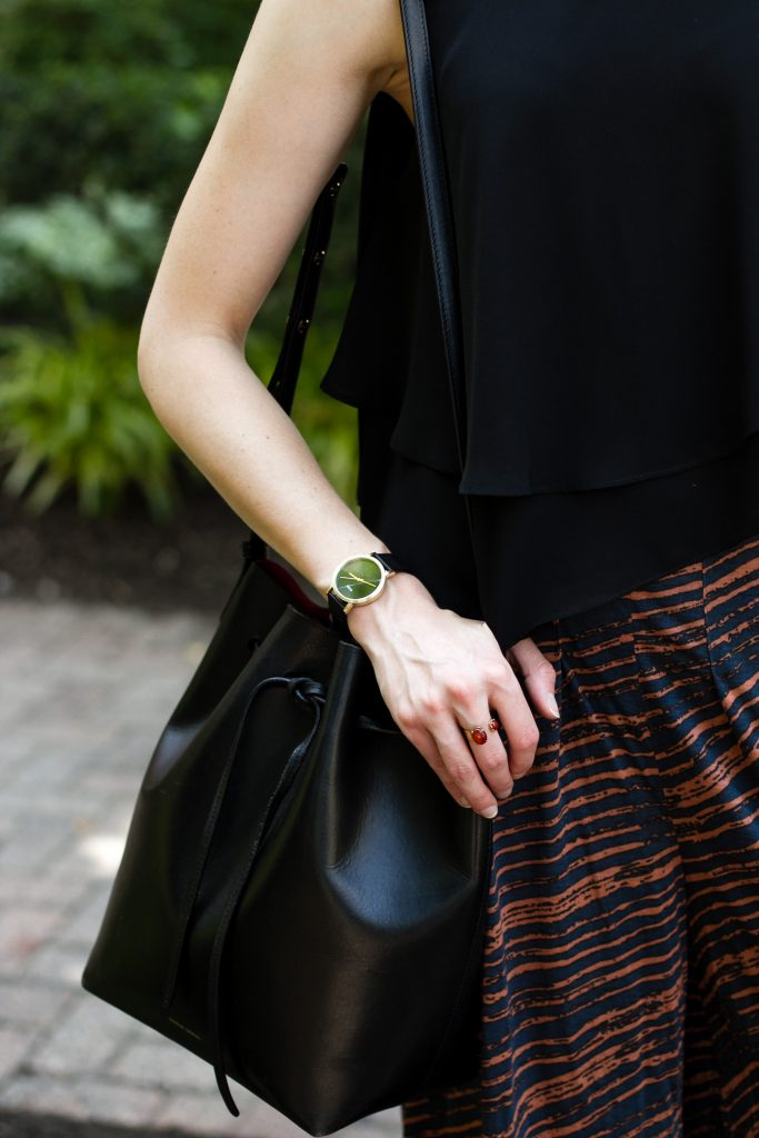 Cluse watch and Mansur Gavriel bag