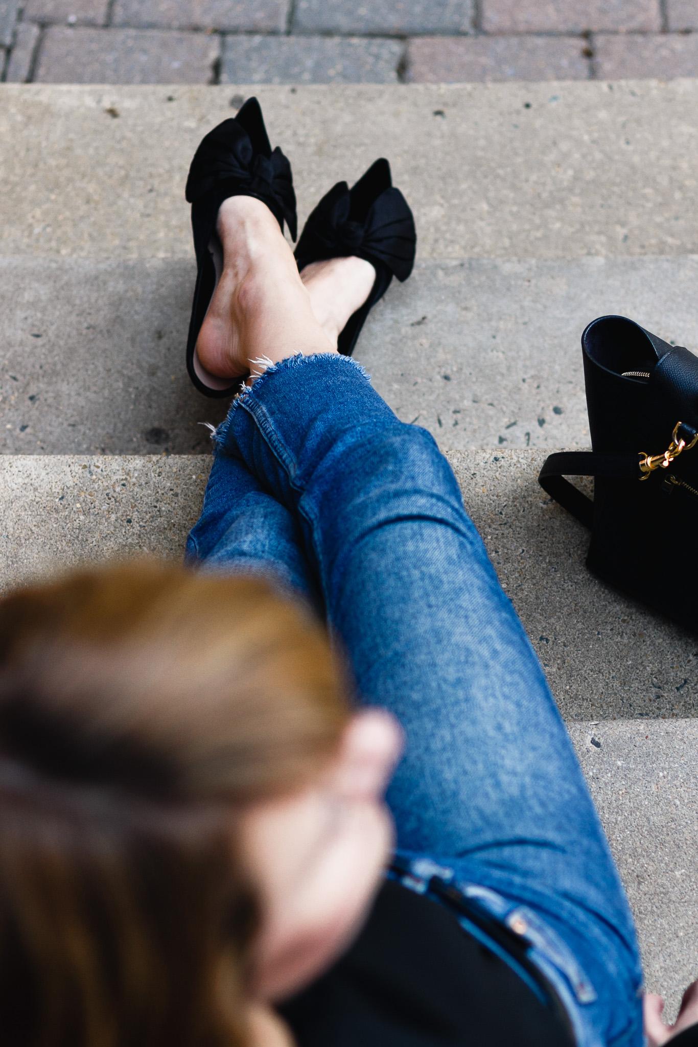 Zara bow kitten heels