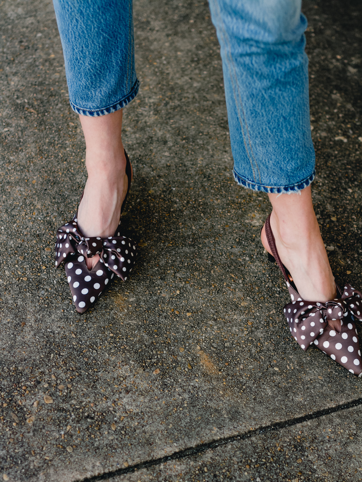 Zara polka dot pumps
