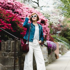 Nordstrom sunglasses and cropped Topshop jeans