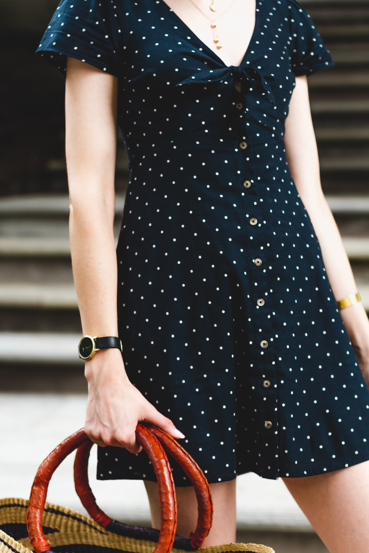 Abercrombie tie front dress