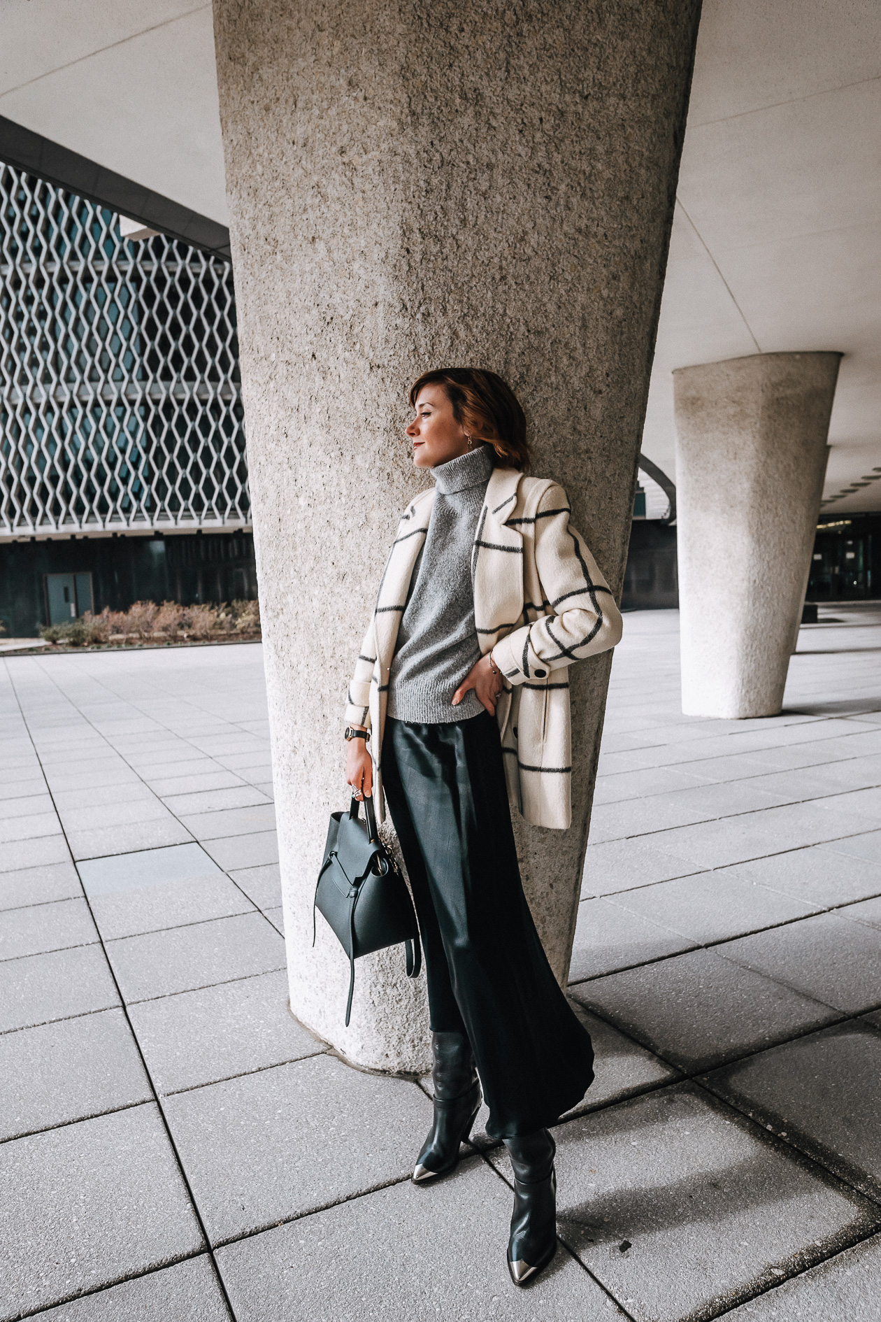 windowpane plaid coat