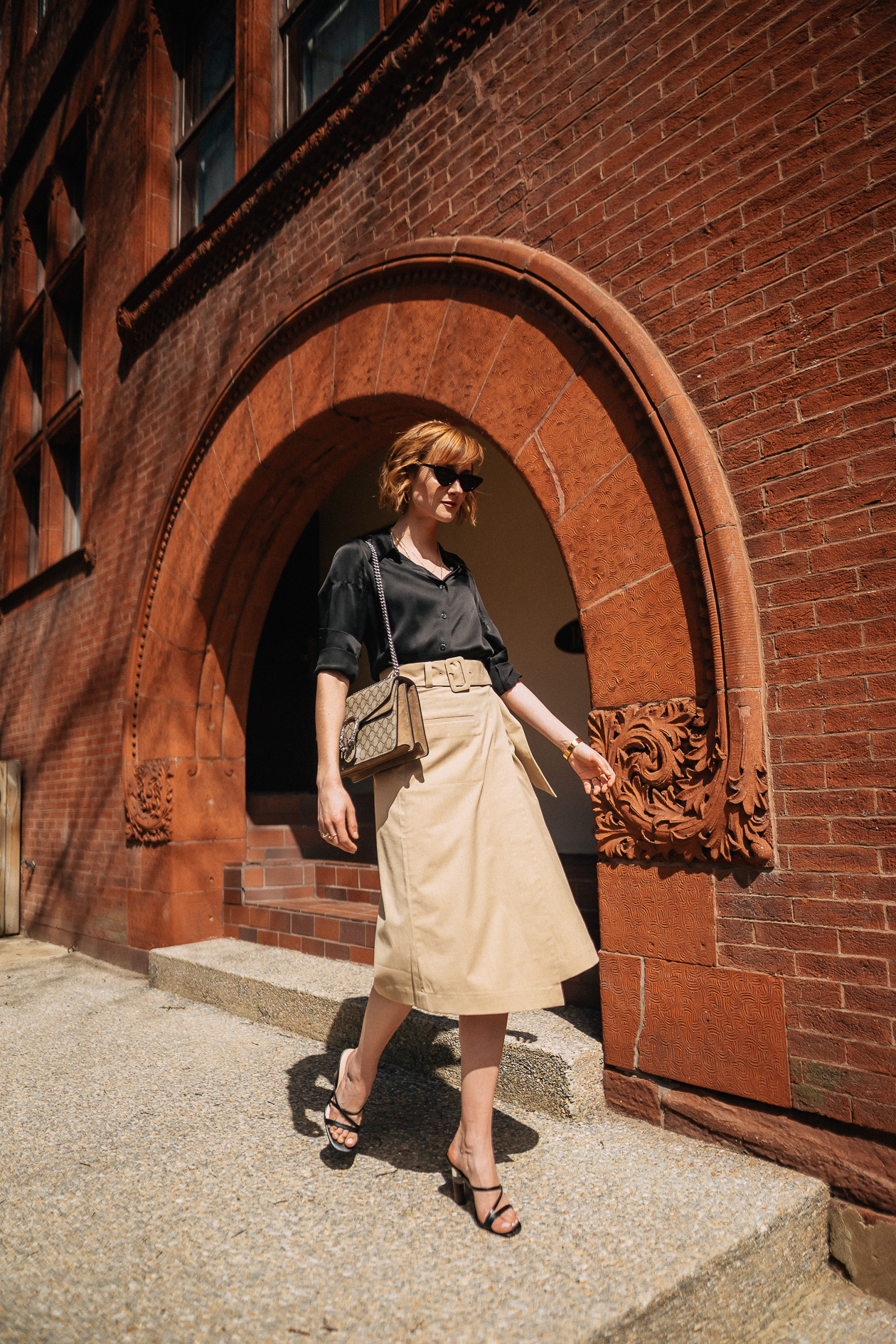 & Other Stories khaki skirt