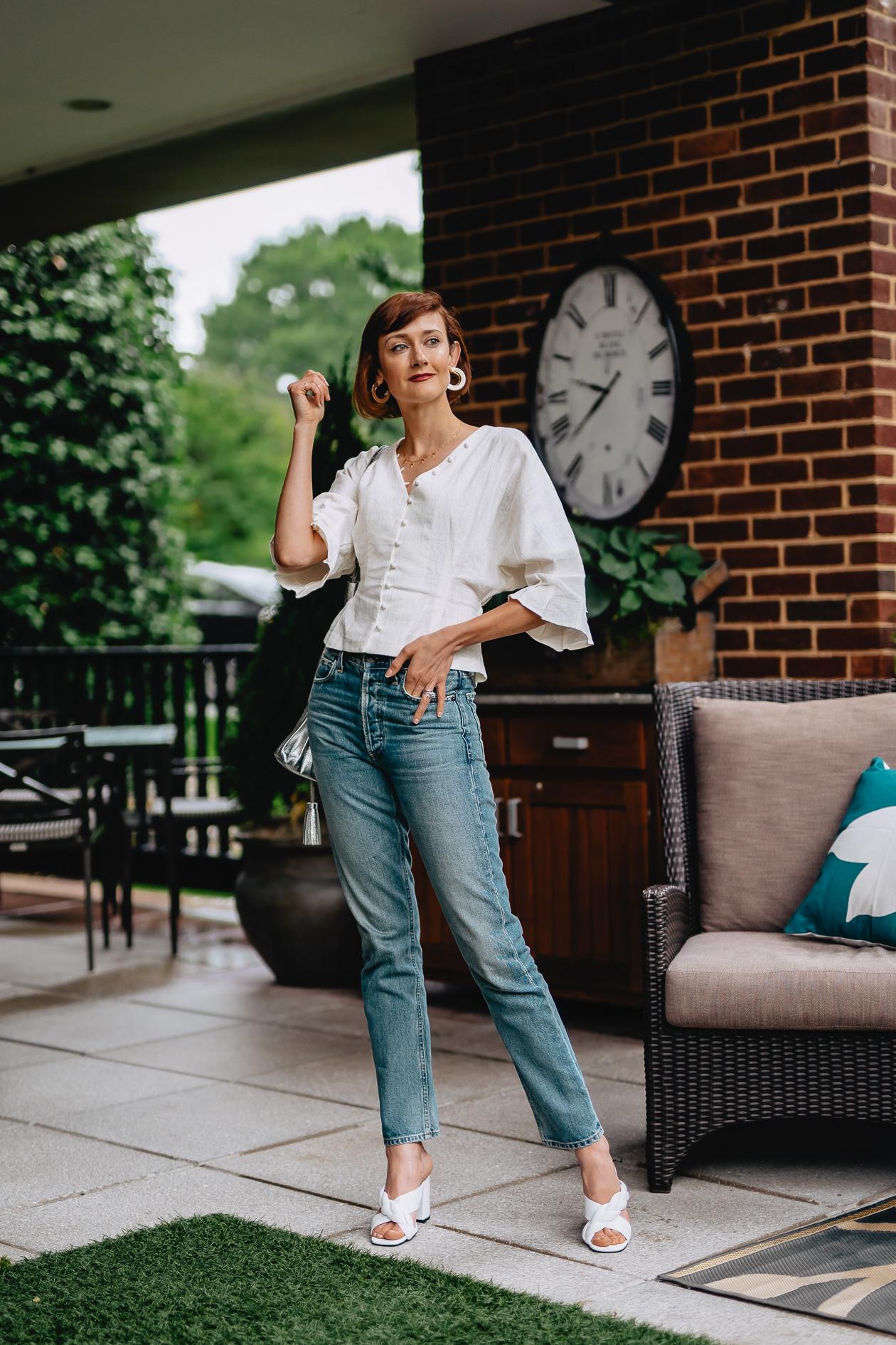 Citizens jeans & linen top