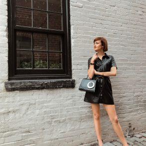 Nanushka leather dress