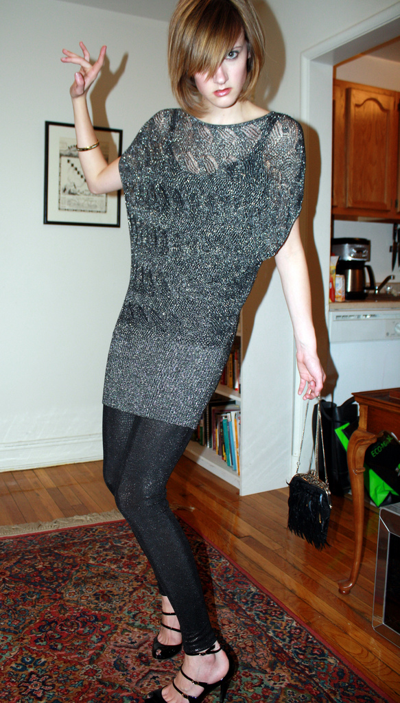 sparkly tunice and leggings