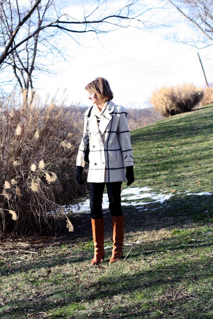 vintage wide plaid coat
