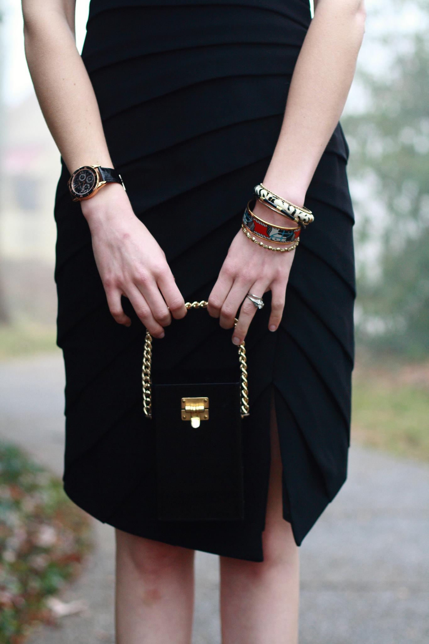 vintage lucite evening bag