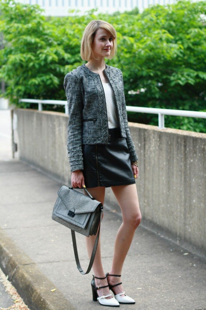 District of Chic black and white outfit
