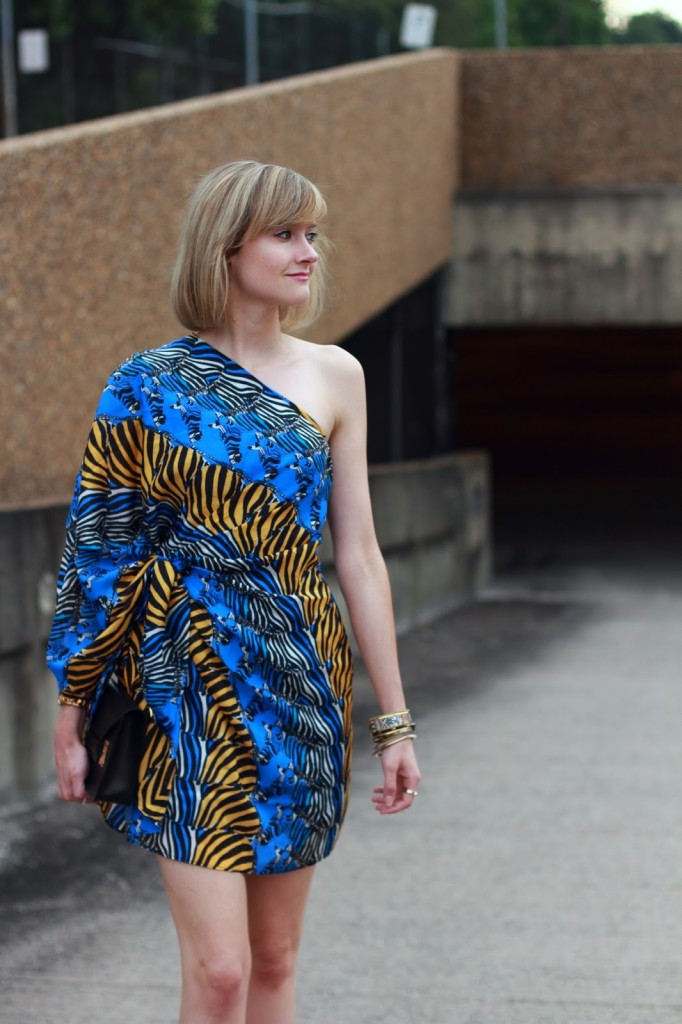 Issa dress and Sophie Hulme clutch