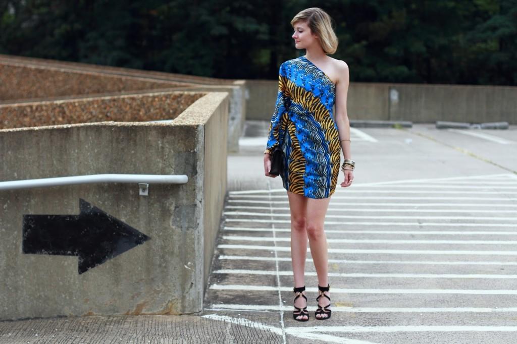 Issa mini dress and YSL wedges