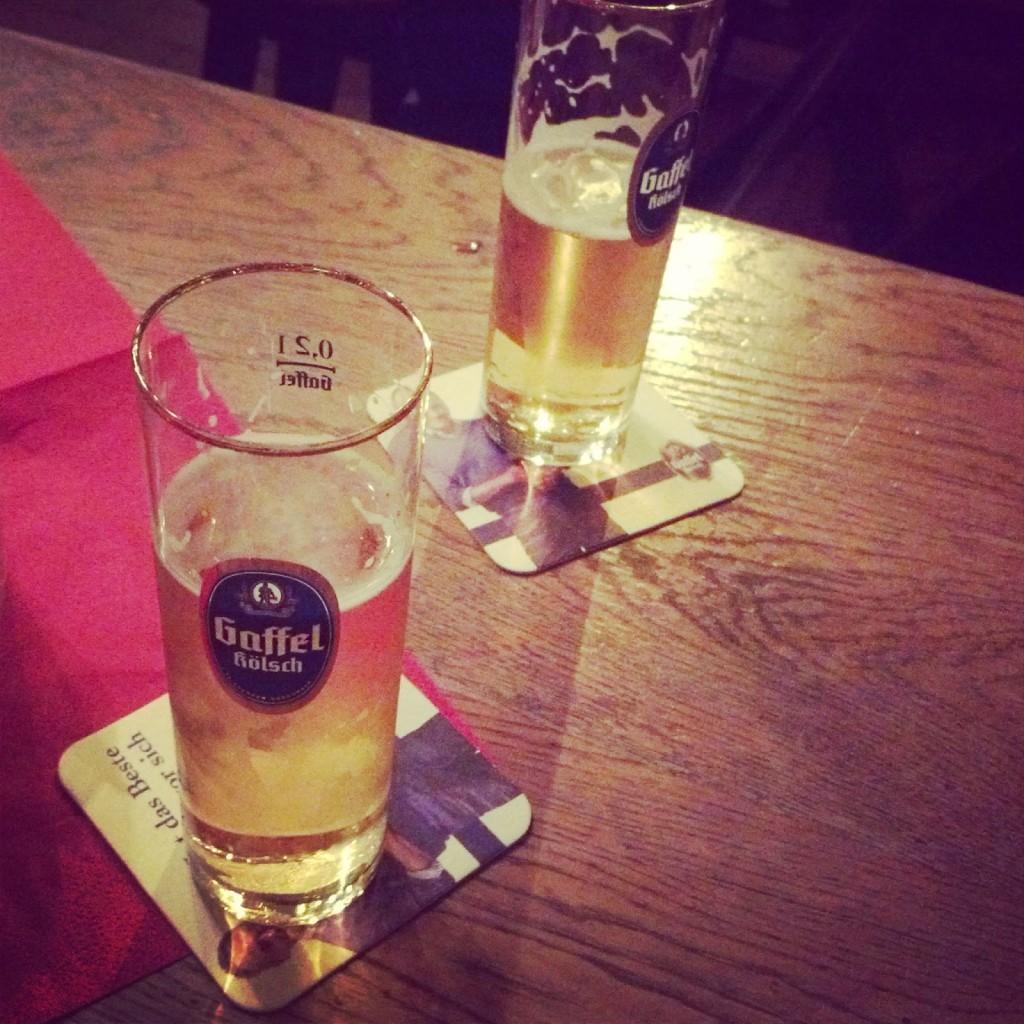 Kölsch beer in Cologne