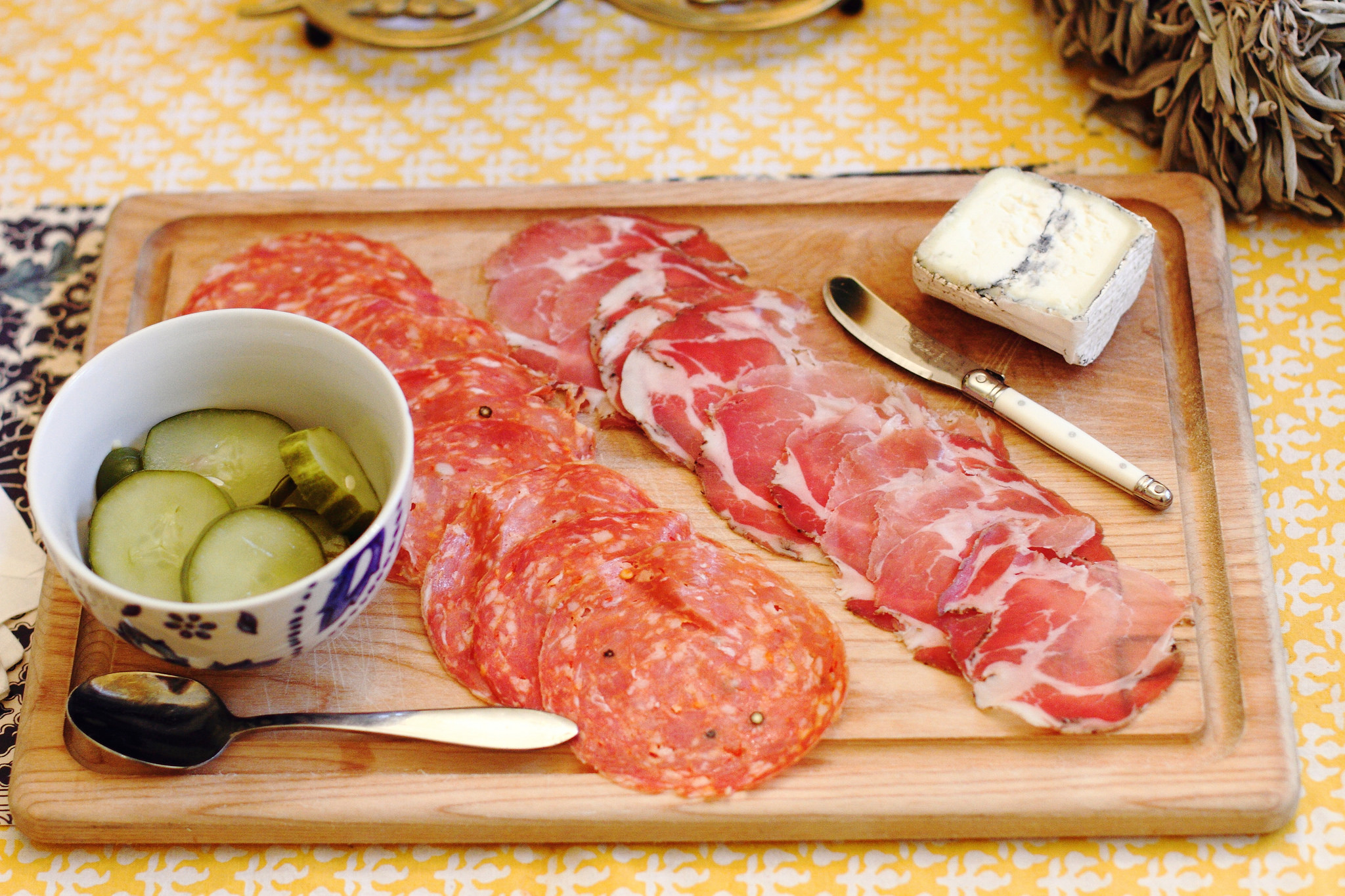 charcuterie and homemade pickles