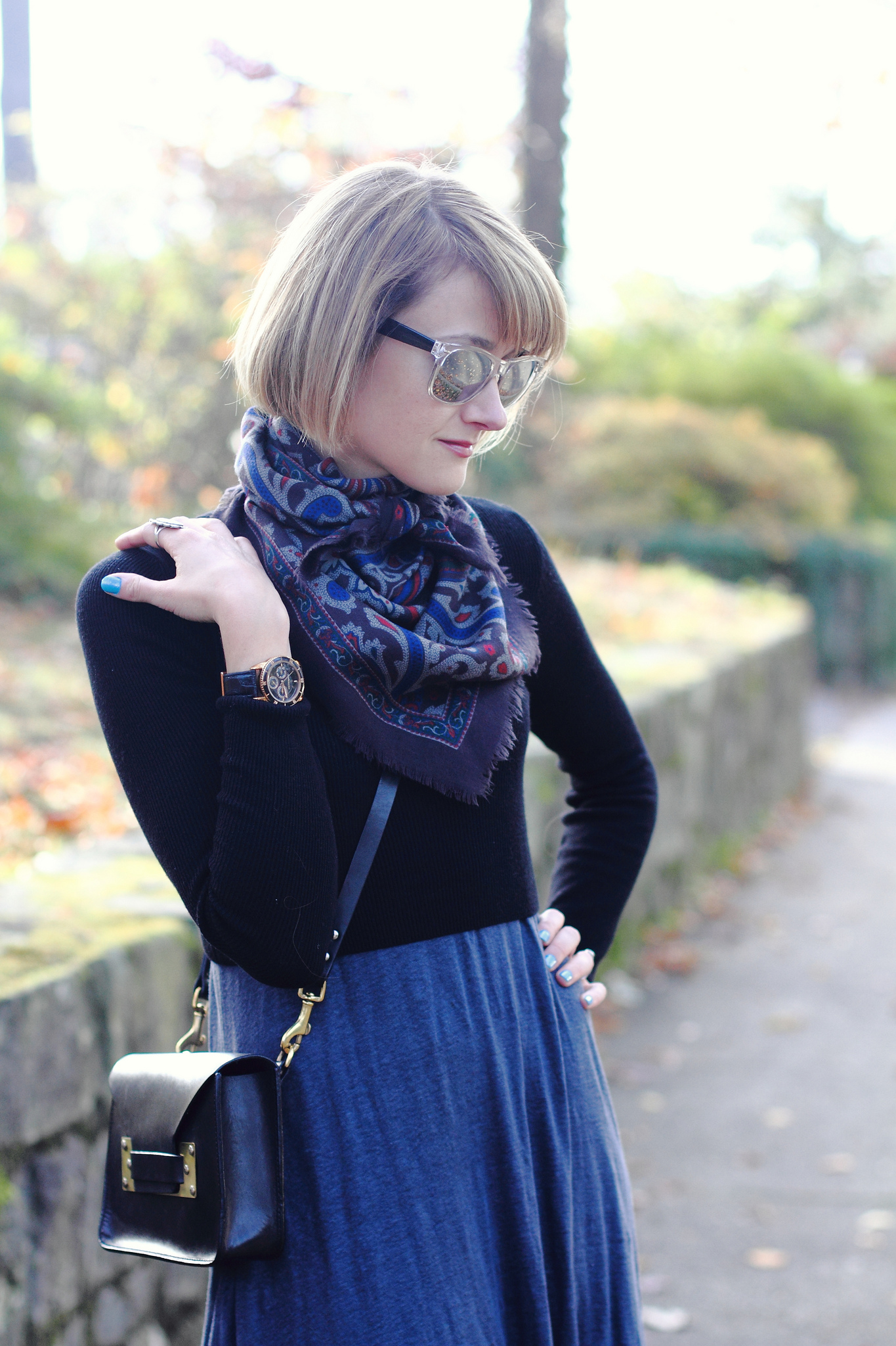 Maxi dress + cropped sweater