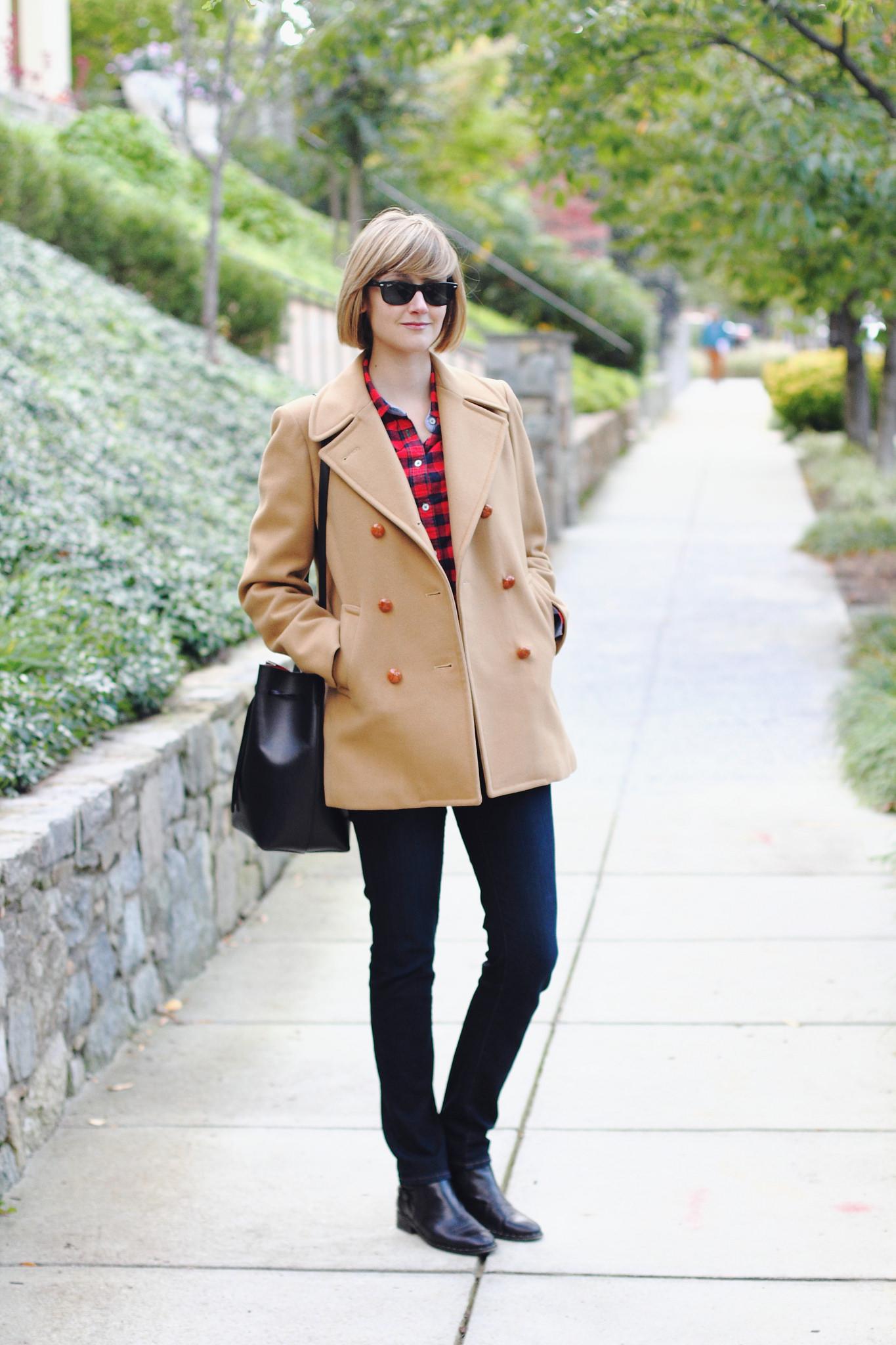 vintage Brooks Brothers camel coat