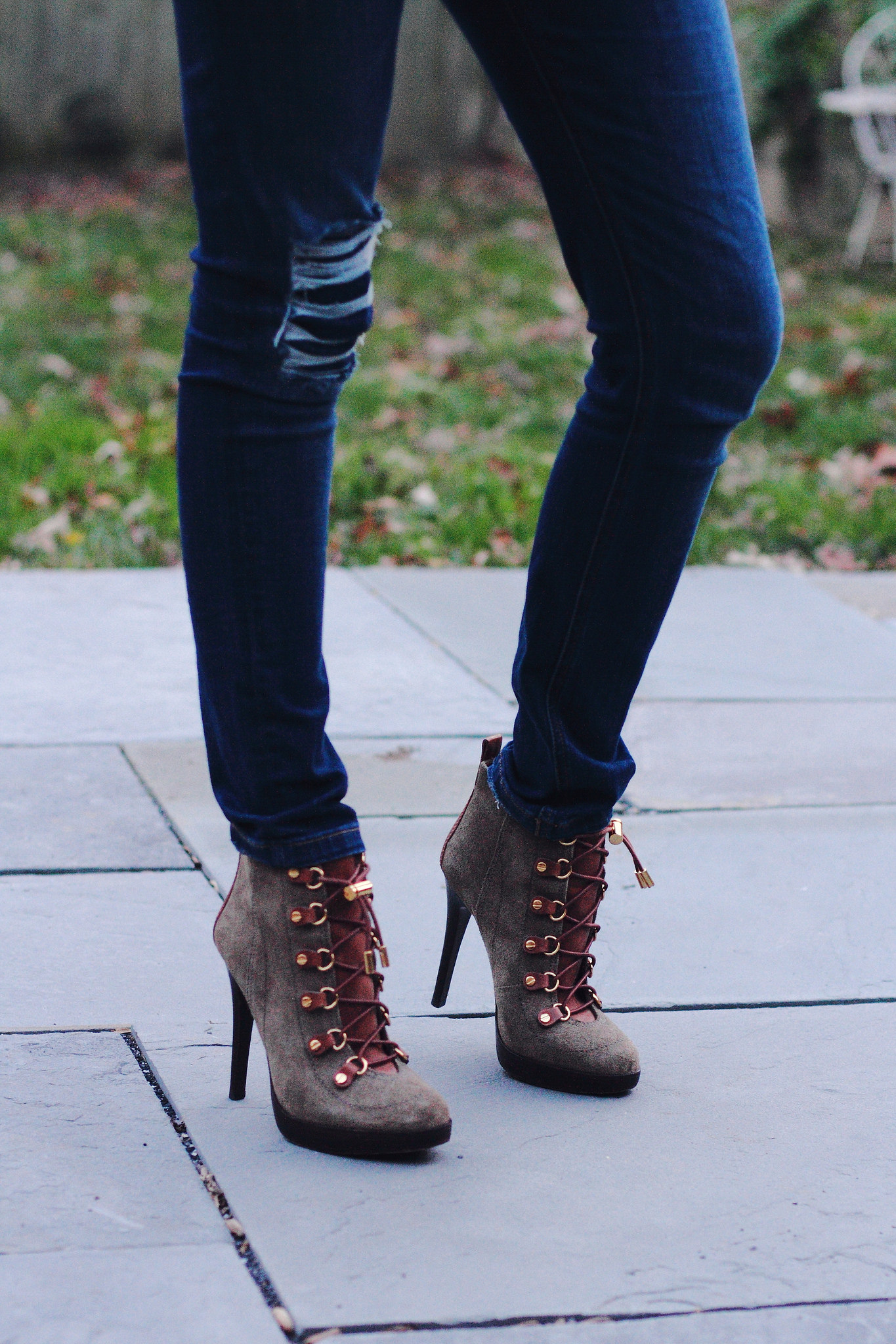 Tory Burch lace-up boots