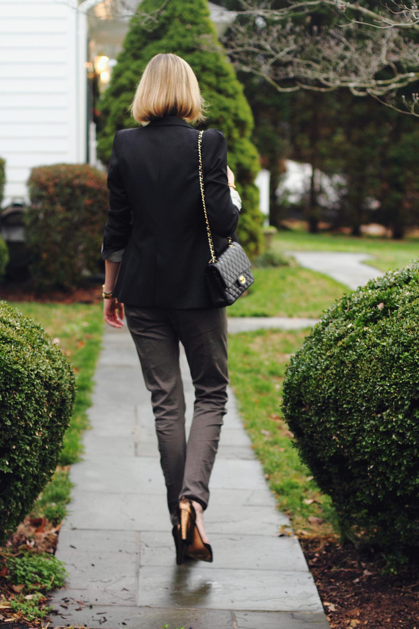 Zara blazer, Mango pants and Reiss shoes