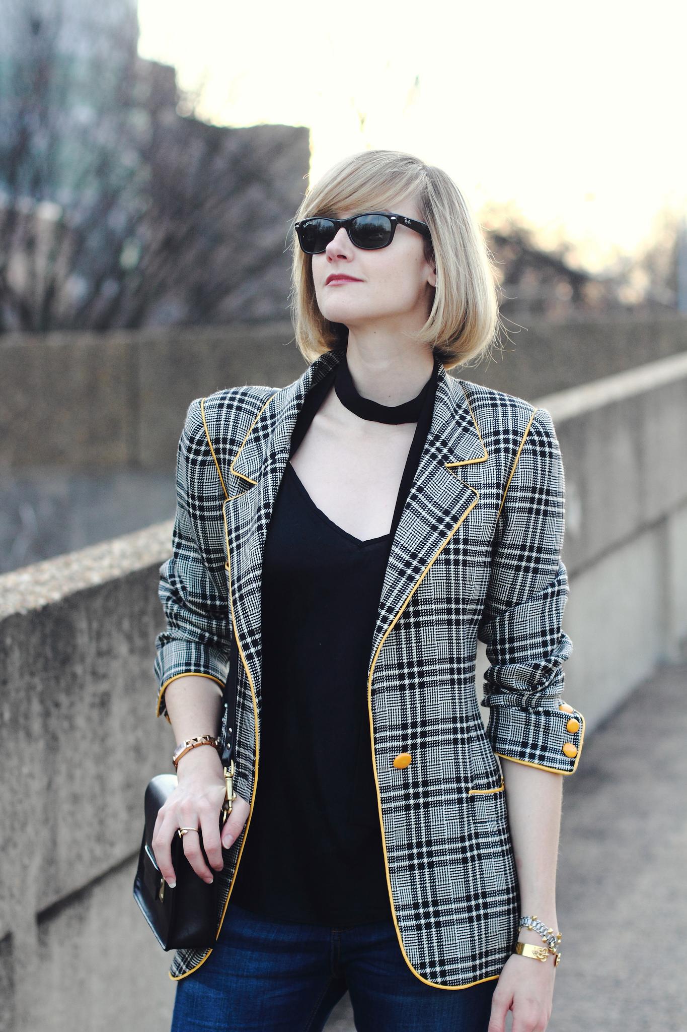 silk camisole and vintage Ungaro blazer