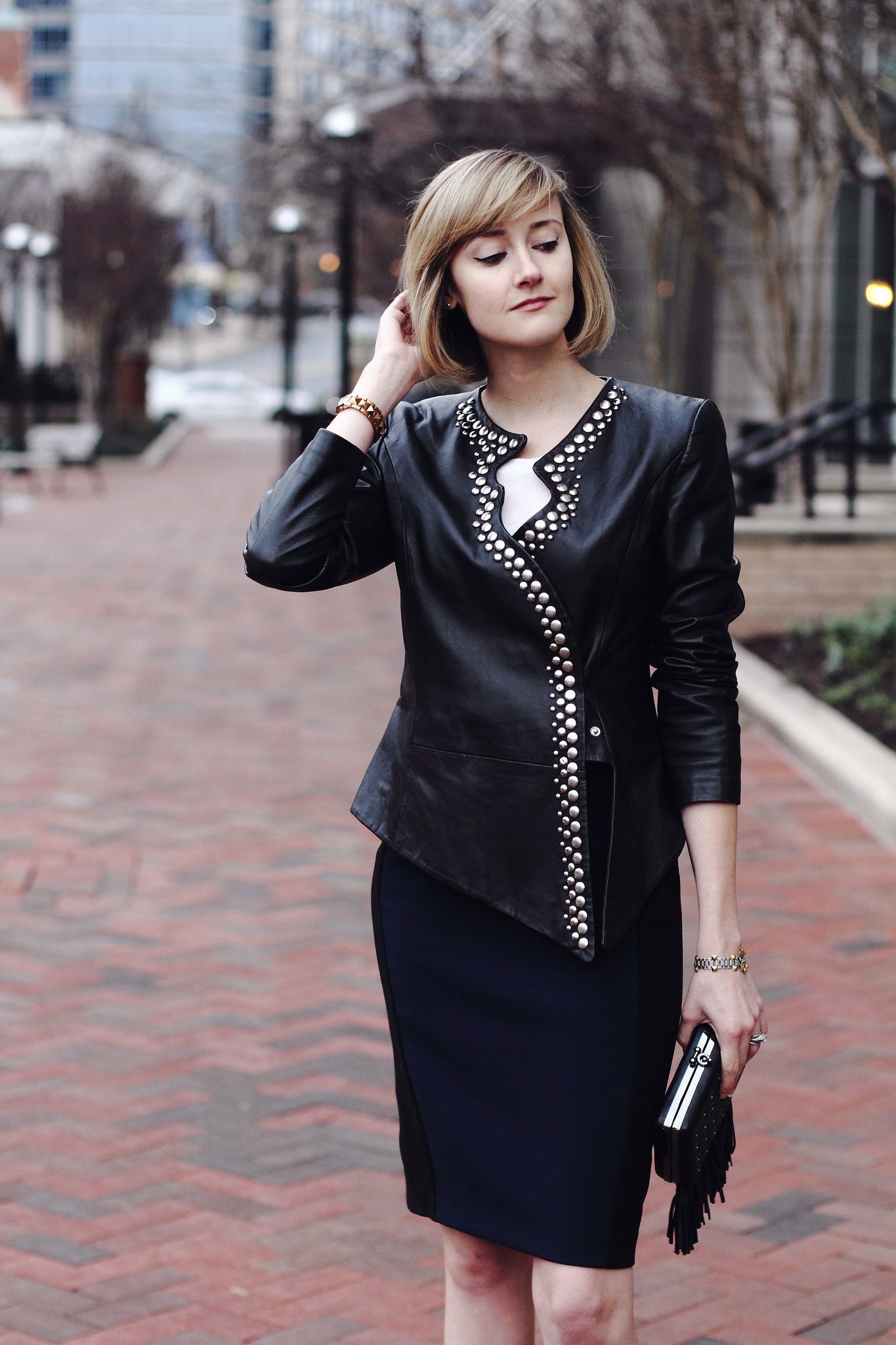Surface to Air leather jacket