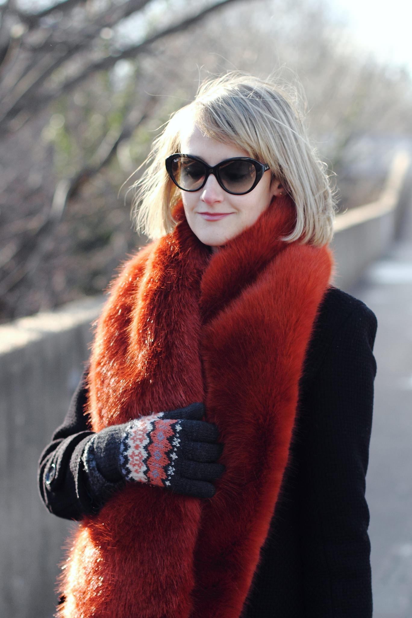 J. Crew faux fur scarf