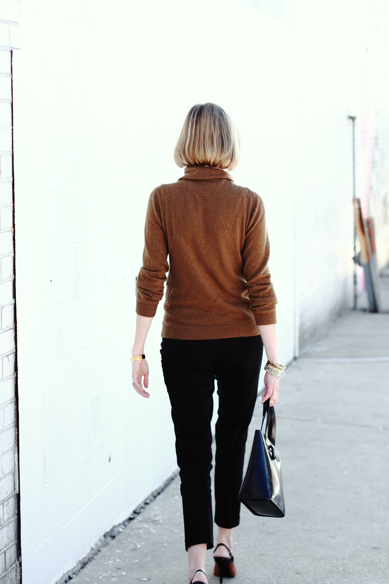 black and brown work outfit