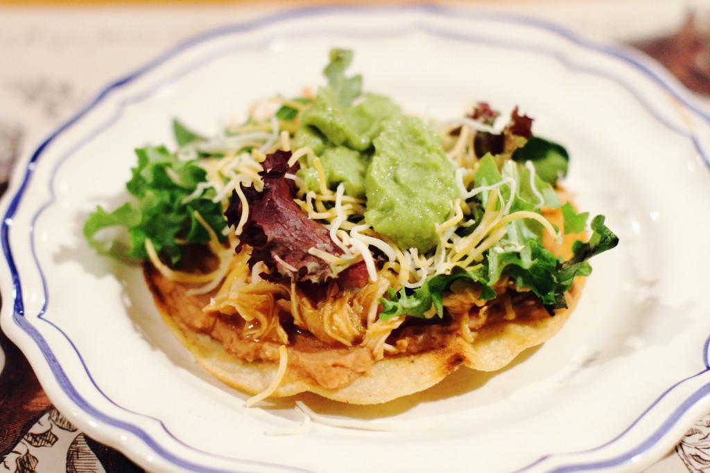 slow cooker chicken tostada